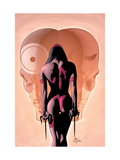 Bullseye Greatest Hits 4 Cover: Elektra, Bullseye and Daredevil Kunstdrucke von Mike Deodato Jr.