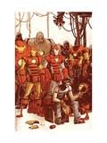 Iron Man & The Armor Wars 1 Cover: Stark and Tony Posters by Skottie Young
