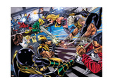 Avengers/Invaders No.4 Group: Wolverine, Ares, Ms. Marvel, Cage and Luke Art by Steve Sadowski
