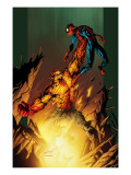 Ultimate Spider-Man No.77 Cover: Hobgoblin and Spider-Man Fighting and Flying Posters by Mark Bagley