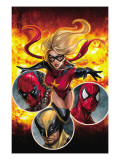 Ms. Marvel No.40 Cover: Ms. Marvel Prints by Sana Takeda