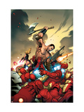 The Mighty Avengers No.4 Cover: Ares and Iron Man Poster by Frank Cho
