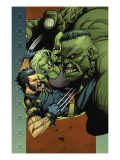 Ultimate Wolverine vs. Hulk 4 Cover: Wolverine, Hulk and She-Hulk Posters par Yu Leinil Francis