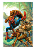 Marvel Age Spider-Man 14 Cover: Spider-Man and Kraven the Hunter Fighting and Flying Poster by Roger Cruz