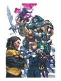 Uncanny X-Men 437 Cover: Wolverine, Havok, Juggernaut, Nightcrawler, Angel, Northstar and X-Men Poster von Salvador Larroca