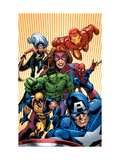 Marvel Two-In-One No.14 Cover: Avengers and X-Men Prints by Kirk Leonard
