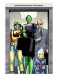 She-Hulk No.8 Cover: She-Hulk, Howard the Duck, Murdock and Matt Print