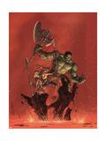 Incredible Hulk No.93 Cover: Hulk and Miek Art by Brandon Peterson