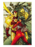 Astonishing Tales 3 Cover: Spider Woman and Iron Man Print by Kenneth Rocafort