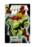 Iron Man No.305 Cover: Iron Man and Hulk Fighting Posters by Hopgood Kev