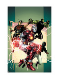 Young Avengers 3 Cover: Iron Lad, Wiccan, Hulkling and Patriot Posters by Jim Cheung