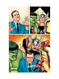 Avengers Classics 1 Group: Hulk, Thor, Lee, Stan and Iron Man Art by Maguire Kevin