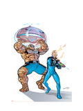 Marvel Adventures Fantastic Four 39 Cover: Thing and Human Torch Prints by Espin Salvador