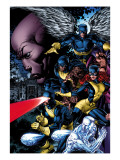 X-Men: Legacy 208 Cover: Cyclops, Iceman, Marvel Girl, Beast and Angel Posters by David Finch