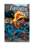 Marvel Adventures Fantastic Four 1 Cover: Thing, Mr. Fantastic, Human Torch and Invisible Woman Poster by Carlo Pagulayan