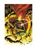 Fantastic Four 575 Cover: Thing, Mr. Fantastic, Invisible Woman, Human Torch and Mole Man Prints by Davis Alan