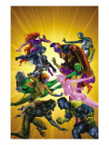 War of Kings 5 Cover: Gorgon Prints by Brandon Peterson