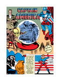 Captain America Comics No.1 Cover: Captain America, Bucky, Sando and Omar Posters by Jack Kirby