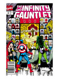 Infinity Gauntlet No.2 Cover: Captain America, Thor and She-Hulk Affiches par George Perez