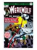 Werewolf By Night No.33 Cover: Moon Knight and Werewolf By Night Posters by Perlin Don