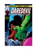 Daredevil No.163 Cover: Hulk and Daredevil Fighting Poster by Frank Miller