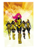 X-Men: Pixie Strikes Back 1 Cover: Pixie, X-23, Blindfold, Armor and Mercury Posters par Immonen Stuart