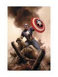 Captain America Theater Of War: America The Beautiful No.1 Cover: Captain America Posters by Steve Epting