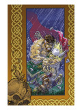 Thor: Blood Oath No.3 Cover: Thor and Hercules Prints by Kolins Scott
