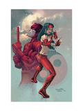 Ultimate Elektra No.3 Cover: Daredevil and Elektra Print by Salvador Larroca