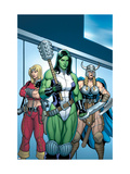 Hulk 7 Group: She-Hulk, Valkyrie and Thundra Poster by Arthur Adams