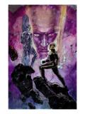 Nova No.15 Cover: Nova and Silver Surfer Kunstdrucke von Alex Maleev