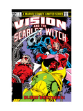 Vision And The Scarlet Witch No.3 Cover: Grim Reaper, Wonder Man, Vision and Scarlet Witch Prints by Rick Leonardi