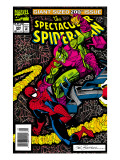 The Spectacular Spider-Man No.200 Cover: Spider-Man and Green Goblin Smashing Posters by Buscema Sal