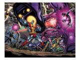 Exiles No.69 Group: Colossus, Nightcrawler, Wolverine, Storm, Cyclops, Sentinel and X-Men Art par Pelletier Paul