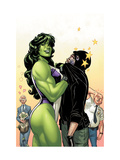 She-Hulk 38 Cover: She-Hulk Prints by David Williams