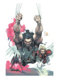 Uncanny X-Men 441 Cover: Wolverine, Nightcrawler and Angel Print by Salvador Larroca