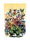Los vengadores clásicos, portada nro.1: Hulk Láminas por Arthur Adams