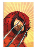 Marvel Age Team Up No.2 Cover: Spider-Man and Wolverine Charging Arte por Kolins Scott