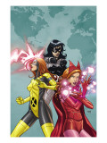 X-Men: First Class 9 Cover: Scarlet Witch, Marvel Girl and Black Widow Poster by Roger Cruz