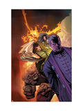 Fantastic Four: House Of M No.3 Cover: Dr. Doom, Magneto, Thing and Fearsome Four Print by Scot Eaton
