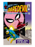Daredevil No.17 Cover: Daredevil, Spider-Man and Marauder Poster von John Romita Sr.