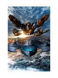 Dark Avengers No.2 Group: Iron Patriot, Ms. Marvel and Sentry Posters by Mike Deodato