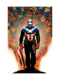 Captain America 50 Cover: Captain America Posters by Epting Steve