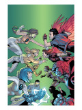 New X-Men No.6 Cover: Wind Dancer, Surge, Hellion, Rock Slide, Dust, New X-Men and Hellions Art by Randy Green