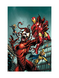 The Mighty Avengers 8 Cover: Iron Man and Sentry Prints by Mark Bagley