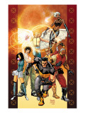 Ultimate X-Men 84 Cover: Wolverine, Bishop, Angel, Storm, Pyro, Dazzler and Psylocke Prints by Paquette Yanick