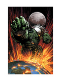 World War Hulk 1 Cover: Hulk Flying Posters par David Finch