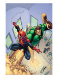 Marvel Adventures Spider-Man 6 Cover: Spider-Man and Sandman Print by Patrick Scherberger