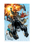 Avengers: The Initiative No.2 Cover: War Machine, Gauntlet, Komodo, Cloud 9, Trauma and Hardball Prints by Jim Cheung