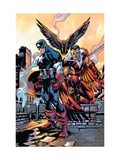Captain America And The Falcon No.10 Cover: Captain America and Falcon Prints by Porter Howard